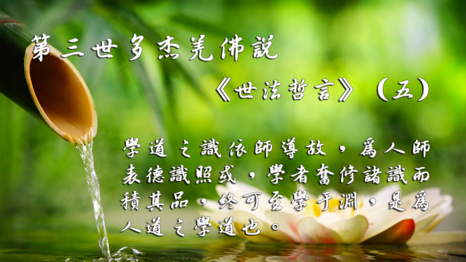 第三世多杰羌佛說《世法哲言》(五)