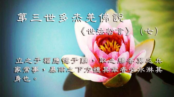 第三世多杰羌佛說《世法哲言》(七)