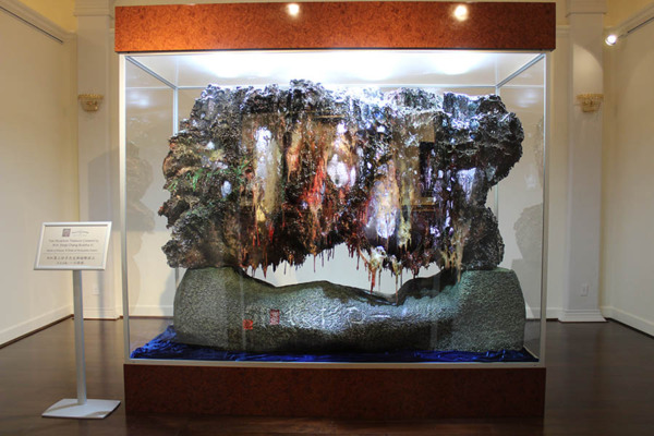 H.H.第三世多杰羌佛韻雕作品-「一石橫嬌」-2