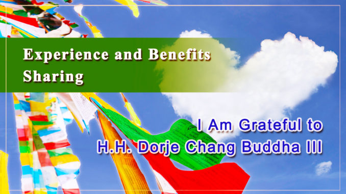 I Am Grateful to H.H. Dorje Chang Buddha III