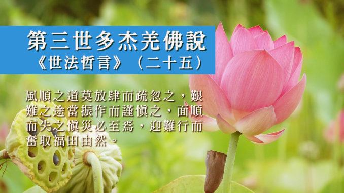 第三世多杰羌佛說《世法哲言》(二十五)