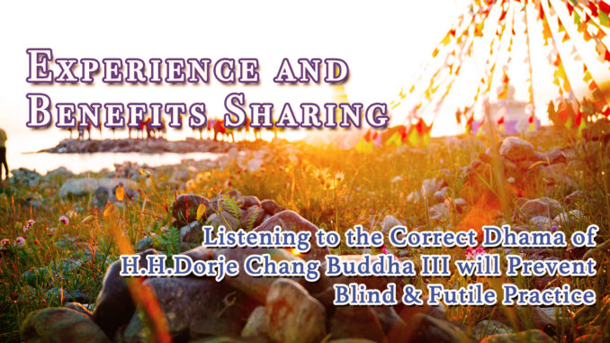 Listening to the Correct Dharma of H.H.Dorje Chang Buddha III