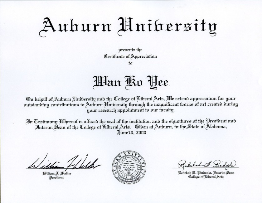 Auburn-University-presents-the-Certificate-of-Appreciation-to-Master-Wan-Ko-Yee-H.H.-Dorje-Chang-Buddha-III-2