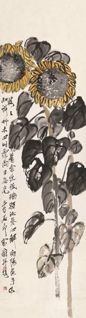 齐白石作品《向日葵》之一