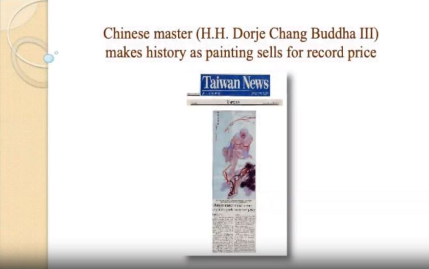 Chinese master (H.H. Dorje Chang Buddha III) makes history as painting sells for record price