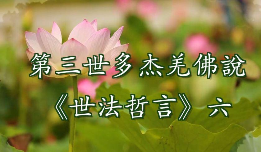 第三世多杰羌佛說 《世法哲言》六