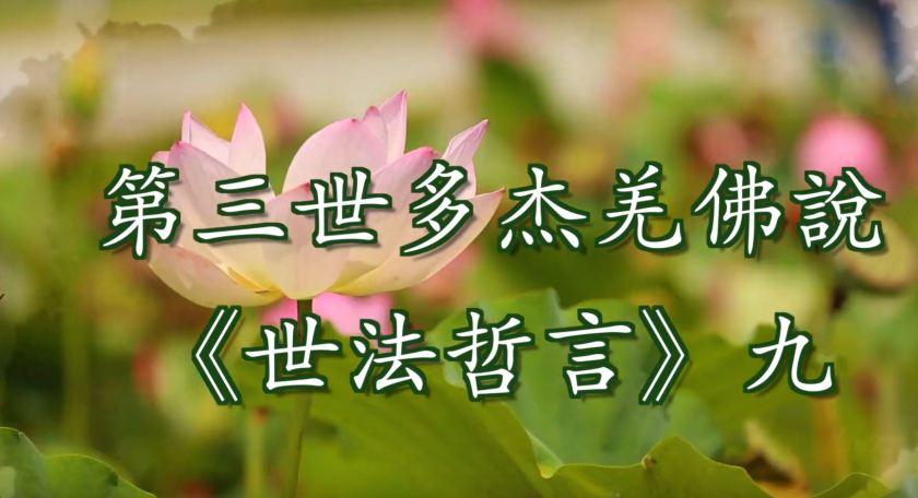 第三世多杰羌佛說 《世法哲言》九